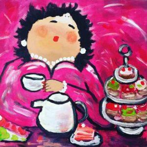Dikke vriendinnen high tea @ Galerie Café Leidse Lente | Leiden | Zuid-Holland | Nederland