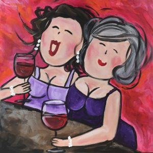 Lachende dames @ Galerie Café Leidse Lente | Leiden | Zuid-Holland | Nederland