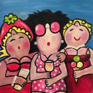 Dikke vriendinnen at the beach @ Galerie Café Leidse Lente | Leiden | Zuid-Holland | Nederland