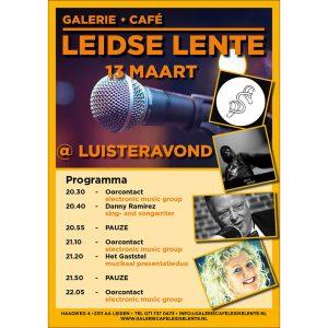 Leidse Lente Luisteravond @ Galerie Café Leidse Lente | Leiden | Zuid-Holland | Nederland