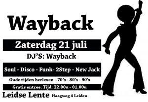DJ's Wayback @ Galerie Café Leidse Lente