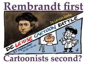De Leidse Cartoon Battle 'Rembrandt first, cartoonists second?'
