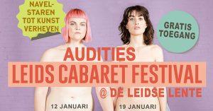 Auditie Leids Cabaret Festival 2020 in de Leidse Lente