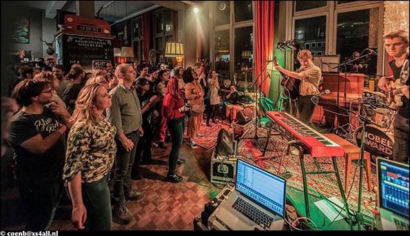 Melle Boddaert en band rocken bij Leidse Lente